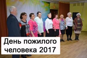 День пожилого человека 2017
